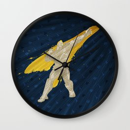 Grabbing Memories (Homage to Abel from Street Fighter) Wall Clock