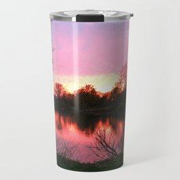 Sunset on St. Mary's Lake Notre Dame Travel Mug