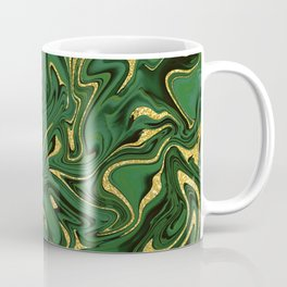 Luxury Marble Pattern in Emerald, Gold, Green and Copper Coffee Mug