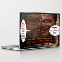 minions Laptop & iPad Skins featuring Kount Kracula's Review Showcase -TV Show Promo Poster  by Tex Watt