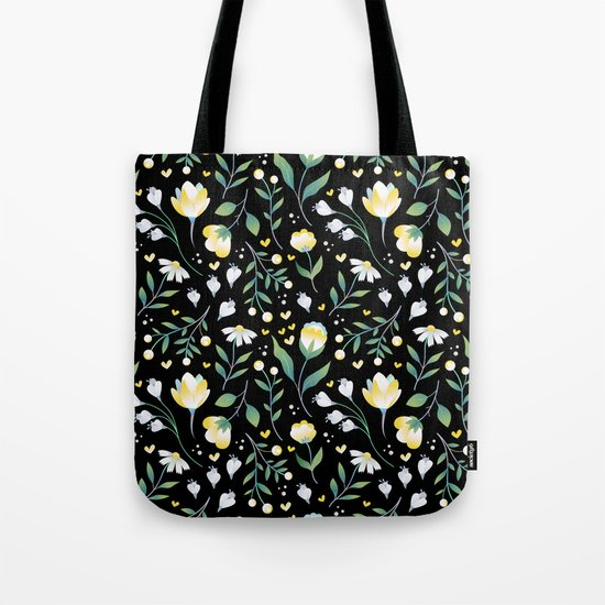 Colourscape Summer Floral Pattern Black by sharonmau