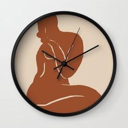 Terracotta nude Wall Clock