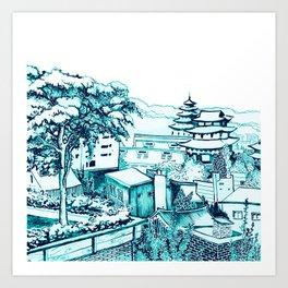 Samcheong dong  Art Print