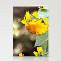 sunflowers Stationery Cards featuring SUNFLOWERS :) by Teresa Chipperfield Studios