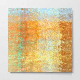 Textured Layered Abstract Metal Print