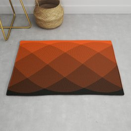 Orange to Black Ombre Signal Rug