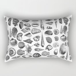 Vintage Sea Shell Drawing Black And White Rectangular Pillow