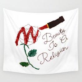 BeautyIsAReligion `Rose Lippy` Wall Tapestry