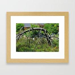Push and Pull Framed Art Print