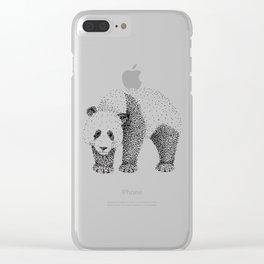 Ailuropoda Melanoleuca Clear iPhone Case