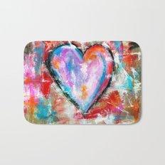 Reckless Heart, Abstract Art Painting Bath Mat