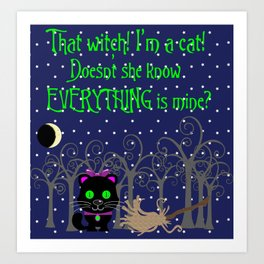 What a Witch Art Print