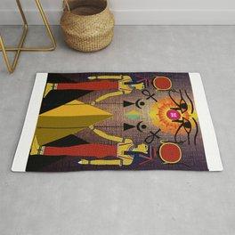 Hathor under the eyes of Ra -Egyptian Gods and Goddesses Rug