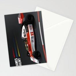 James Hunt McLaren F1    Car   Automotive   Formula One Stationery Cards