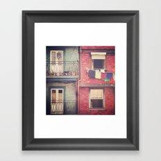 Color Block Framed Art Print
