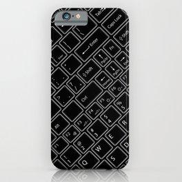 Keyboarded BLACK iPhone Case