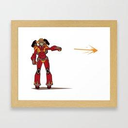 Flareup Framed Art Print