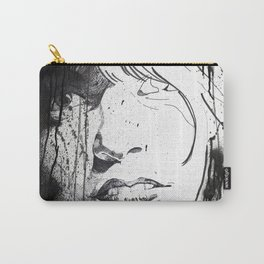 Splattered Portrait Carry-All Pouch