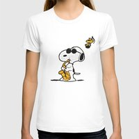 snoopy T-shirts featuring Snoopy by DisPrints