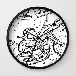 Apes in Vintage Italian Motorcycle Race Wall Clock