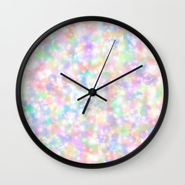 Rainbow Bubbles of Light Wall Clock
