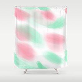 80s pastel leotard Variation Shower Curtain