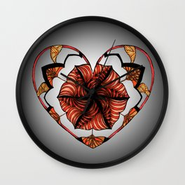 Hearts can be broken but strings will keep them together Wall Clock