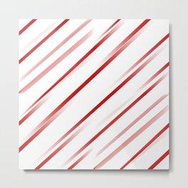 Delusional Red Stripes Metal Print