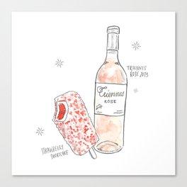 Strawberry Shortcake + Rosé Canvas Print