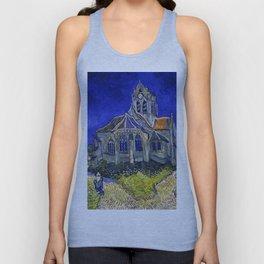 """Vincent Van Gogh """"The Church In Auvers Sur Oise"""" Unisex Tank Top"""