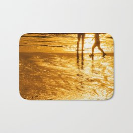 sunset golden stars summer Bath Mat