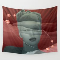 diamonds Wall Tapestries featuring diamonds by Rosa Picnic