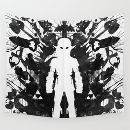 Ink Blot Link Kleptomania Geek Disorders Series Wall Tapestry