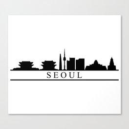 seoul skyline Canvas Print