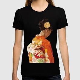 Polygonal kimono girl T-shirt