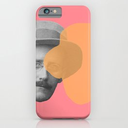 James Joyce - portrait pink and yellow iPhone Case