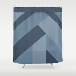 Blue Tones Patchwork Shower Curtain
