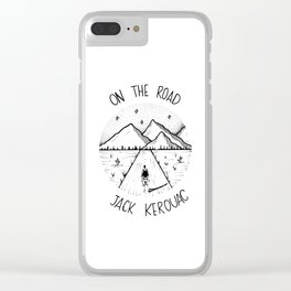 On the road - Jack Kerouac Clear iPhone Case