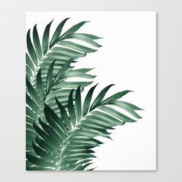 Palm Leaves Tropical Green Vibes #3 #tropical #decor #art #society6 Canvas Print