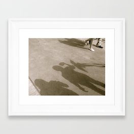 When I Walk With You Framed Art Print