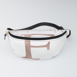 Letter F Rose Gold Pink Initial Monogram Fanny Pack