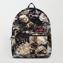 Flower Wall // Desaturated Vintage Floral Accent Background Jaw Dropping Decoration Backpack