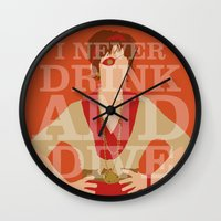 pushing daisies Wall Clocks featuring Pushing Daisies - Lily by MacGuffin Designs