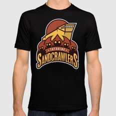 Tatooine SandCrawlers - Gold Mens Fitted Tee X-LARGE Black