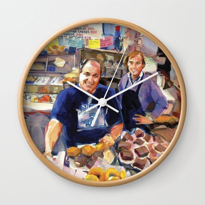 Maurice Margolis, proprietor of Sig's Deli, Newport Wall Clock