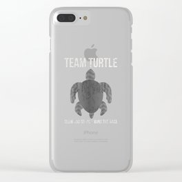 Turtle Turtle Slow Slow Water Clear iPhone Case