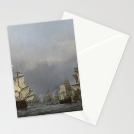 Willem van de Velde the Younger - The surrender of the Royal Prince during the Four Days' Battle Stationery Cards