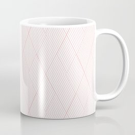 Blush Pink Art Deco Argyle Diamonds Coffee Mug