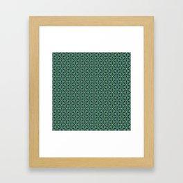 Green Cells Framed Art Print