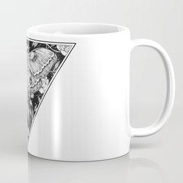 Floral Lunar Moth Drawing Coffee Mug